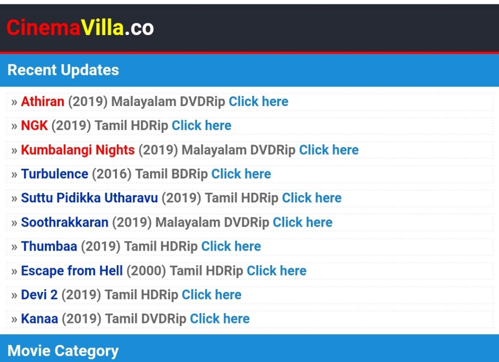 HOW TO DOWNLOAD MOVIES FROM CINEMAVILLA